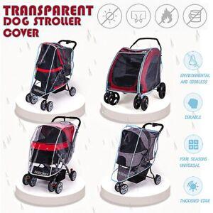 Rain Wind Cover Waterproof Pet Dog Stroller Cart Carrier Folding Travel Outdoor