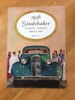 1936 Studebaker Car Advertising Sales Brochure