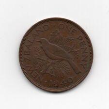 New Zealand 1 Penny 1940 George VI