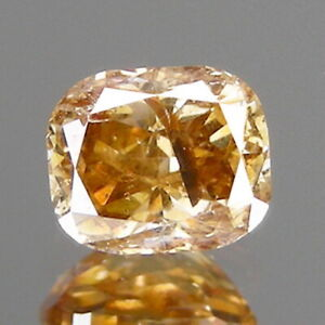0.54cts Oval Fancy Golden Champagne Natural Earth Mined Loose Diamonds