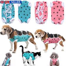 UK Dog Pet Soft Surgical Suit Cat Dog Shirt Surgery Clothes Cute Coat Vest XS-L