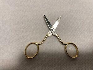 "German Sewing Scissors Two Palm Trees Emblem 3-1/2"""