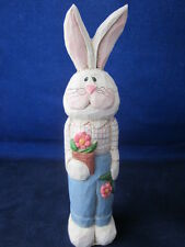 EDDIE WALKER Easter Bunny Rabbit Standing Holding Flower Pot ~ EXCELLENT