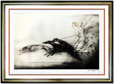 Louis Icart Original Hand Signed Color Etching French Portrait Speed Coursing