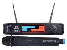 Handheld Vocal Microphone Wireless Radio Mic DJ PA UHF Transmitter Set 90m Range