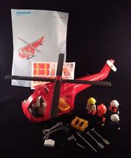 PLAYMOBIL 4428 FIRE RESCUE RED HELICOPTER STRETCHER - STICKER SHEET! - 100% COMP