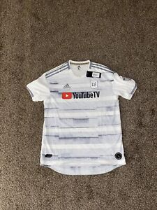 NWT Adidas MLS Los Angeles FC LAFC Soccer 2019 Away Jersey Mens Size L White