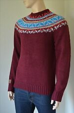 NEW Tokyo Laundry Nordic / Aztec Crew Sweater Jumper Pullover Burgundy L