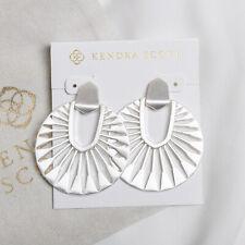 NEW Kendra Scott Didi Sunburst Statement Silver Earrings In Bright
