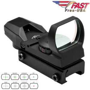 Red Green Dot Sight Reflex Holographic Scope Tactical Optics 20mm Rails D4RGB
