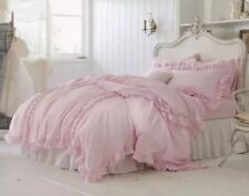 Simply Shabby Chic Pink Ruffle Duvet Cover Set 3 pc King