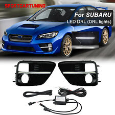 S4 Style LED DRL Daytime Running Light BEZEL COVERS For 2015-2017 Subaru WRX STI