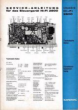 Service Manual-Istruzioni per Imperial CENTRALINA Hi-Fi 2800