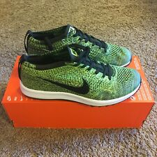 Nike Flyknit Racer G 9 Golf Shoes 909756 700 Limited Sample Green Cleat Trainer
