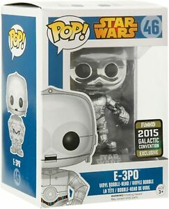 POP Star Wars E-3PO Chrome Convention Special Figure #46 Funko