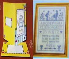 2 NEW KITS: CHILDREN'S BLESSING Stamped Cross Stitch Kit & ANCHOR BABY BOY CARD