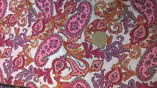 Tissu rose motifs de Paisley 100% coton pelouse au mètre