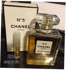 CHANEL No 5 Eau de Parfum Authentic! Perfume 2ml Purse Spray Travel SAMPLE READ