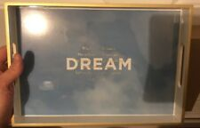 """Fringe Sky And Clouds Thoreau Dream Quote Beautiful Tray 12"""" x 9"""" NEW"""