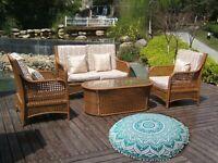 Indian Mandala Cotton Floor Pillows Round Cushion Cover Meditation Ottoman Pouf