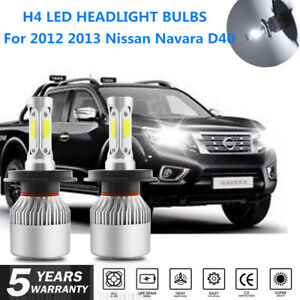 For 2012 2013 Nissan Navara D40 Headlights Globes High Low beam LED 2x Bulbs kit