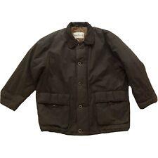 Baracuta Mens Green Field Jacket Cotton Leather Collar Coat Size Large