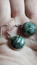 Seraphinite Sterling Silver Earrings 16.00cts