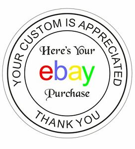 """25mm or 35mm Envelope Seals """"Your ebay order, Thank You, Custom Is Appreciated"""""""