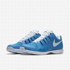NEW MEN'S NIKE ZOOM VAPOR TOUR 9.5 (LT PHOTO BLUE / WHITE) TENNIS SHOES. FEDERER