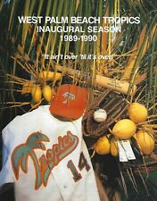 1989-90 West Palm Beach Tropics Senior Professional Baseball Program SPBA #FWIL