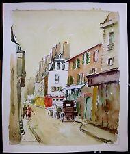 Saint Germain Des Pres, Paris, France, Original Watercolor