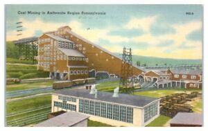 1944 Coal Breaker in Anthracite Mining Region of Pennsylvania Postcard
