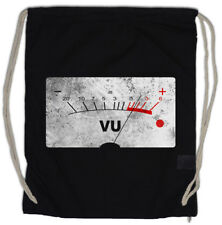 VU VOLUME UNITS METER II Drawstring Bag Decibel Music Bass Retro Vinyl Stereo