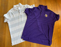 Minnesota Vikings Team Issued Nike Polo Golf Shirt Lot Mens XXL EUC NFL