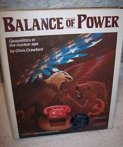 Balance of Power (1986, Apple II) Mindscape Complete Chris Crawford