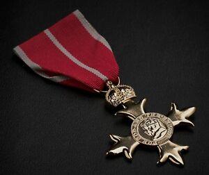 Full Size Replica OBE Medal. Military Award/Ribbon. Order of the British Empire