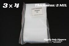 3x4 Clear 2 Mil Zip Bag Poly Reclosable Mini Small Plastic Bags Baggies