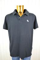 TROPICSURF Herren T-Shirt Polo-Shirt Schwarz Kurzarm  Baumwolle Elastan Gr.M
