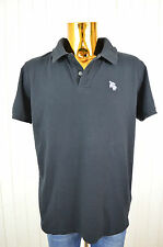 TROPICSURF Herren T-Shirt Polo-Shirt Schwarz Kurzarm  Baumwolle Spandex  Gr.M