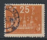 Sweden - 1924, 25 ore Congress of UPU stamp - Used - SG 150