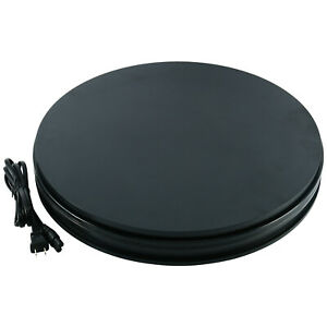 360 Degree Black Electric Motorized Rotating Turntable Display Stand 18 Inch