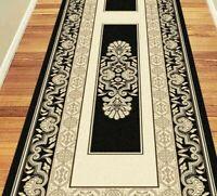 Hallway Runner Carpet Rug Black 80cm Wide Charisma Palace Per Metre Floor Rugs