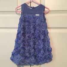Mayoral floral ribbon mesh dress sz 2T periwinkle blue Easter dress holiday
