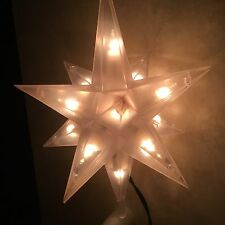 Sylvania Lighted 3D 12 Pointed Morovian Star Christmas Tree Top 7 w 9 tall