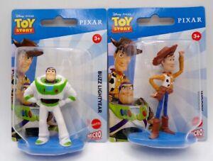 Mattel Disney Pixar Toy Story Mini Figures Buzz Lightyear & Woody  New. Sealed