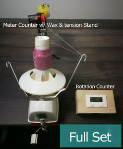 L2 Jumbo Yarn Ball Winder With Electric Rotation Counter Meter Length Counter