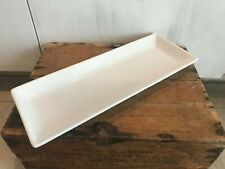 Simple Additions Pampered Chef White Appetizer Tray Serving Platter Dish Lg 16""