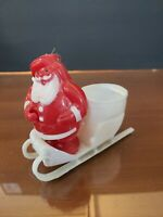 Vintage Celluloid Santa Claus and Sled Candy Container