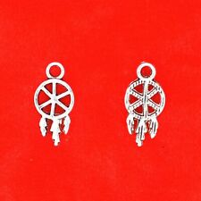 20 x Tibetan Silver Mini Dream Catcher Pagan Craft Charms Pendants
