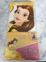 Disney Princess BELLE Wall Decal - Reposition without damage - 3D Action NEW!